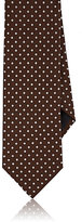 Barneys New York MEN'S DOT-PATTERN SILK FAILLE NECKTIE