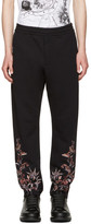 Alexander McQueen Black Embroidered Lounge Pants