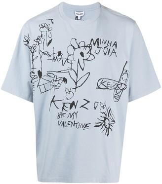 Kenzo drawing-print short-sleeve T-shirt