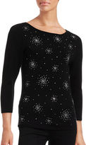 Ruby Rd Studded Ballet Neck Knit Top