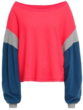 Current/Elliott The Two Step Color-block Cotton-jersey Top