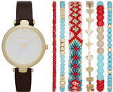 Arizona Womens Brown 7-pc. Watch Boxed Set-Fmdarz156