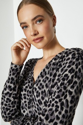 Coast Long Sleeve Animal Print Cardigan
