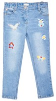 Margherita Toddler Girl's Patch Denim Jeans