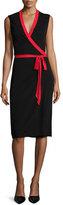Diane von Furstenberg Valena Sleeveless Jersey Wrap Dress