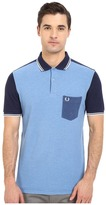 Fred Perry Blue Colour Block Shirt