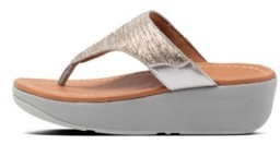 FitFlop Women's Myla Glitz Toe-Thongs Wedge Sandal Women's Shoes