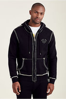 True Religion Hand Picked Big T Stitch Mens Hoodie