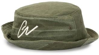 Greg Lauren logo embroidered bucket hat
