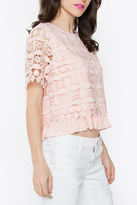 Sugar Lips Sugarlips Blush Crochet Top