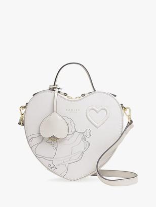 Radley Cherub Heart Leather Cross Body Bag, White