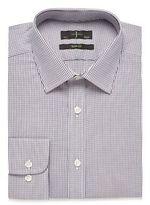 Jeff Banks Lilac Dobby Slim Fit Shirt