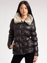 Faux Fur-Trimmed Puffy Jacket