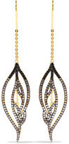 Noir Luminous Threader Gold-Tone Crystal Earrings