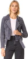 Blank Stargazer Suede Moto Jacket