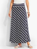 Talbots Island-Stripe Maxi Skirt