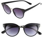 BP Women's 48Mm Round Cat Eye Sunglasses - Black