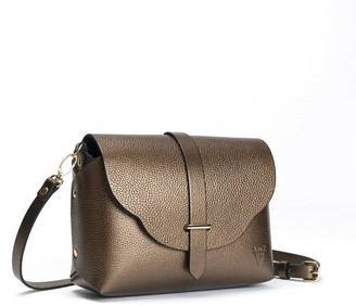 Hiva Atelier Midi Harmonia Leather Bag Metallic Brown