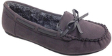 Gray Bow-Accent Moccasin