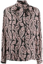 Etro paisley-print pussy-bow blouse
