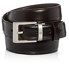 Montblanc Men's Palladium Square Buckle Reversible Leather Belt