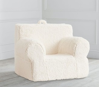 Pottery Barn Kids Cream Sherpa Oversized Anywhere Chair; Slipcover Only
