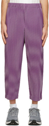 Homme Plissé Issey Miyake Purple Gingham Hologram Trousers