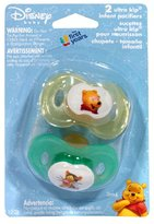 The First Years Disney Baby Ultra Kip Infant Pacifiers, 3M+, Set of 2 Pacifiers (Pack of 4)