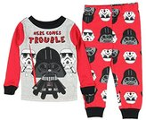 Star Wars Vader Here Comes Trouble Little Boys' Toddler 2 Piece Pajama Set