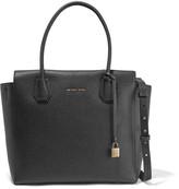 MICHAEL Michael Kors Mercer Textured-leather Shoulder Bag - Black