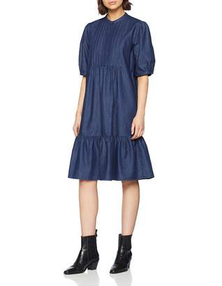 Seidensticker Women's Kleid Kurzarm Modern fit Denim uni Dress