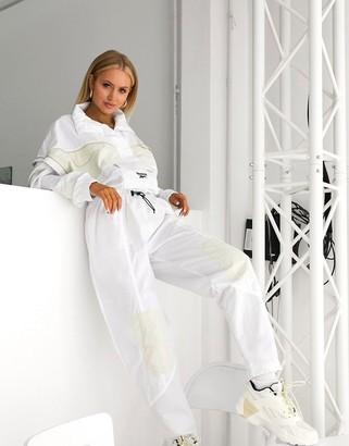 Reebok utility boilersuit in white