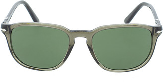 Persol Grey and Green Transparent Sunglasses