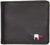MAISON KITSUNÉ Black Cut-out Bifold Wallet