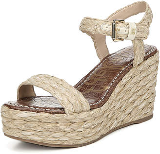 Sam Edelman Deena Braided Raffia Wedge Sandals