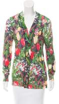 Tory Burch Linen-Blend Floral Cardigan