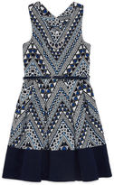 Knitworks Knit Works Printed Bow-Back Dress - Girls' 7-16