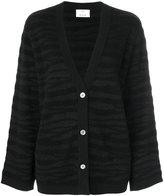 Allude tonal zebra pattern cardigan - women - Polyester/Cashmere/Virgin Wool - L