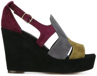 Tila March Colour Block Wedge Sandals