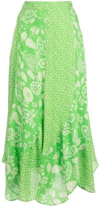 Nicholas Patchwork Midi Skirt