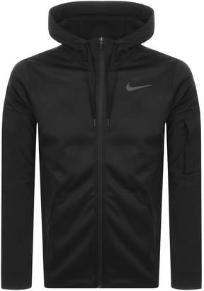 Nike Training Full Zip Logo Therma Hoodie Black