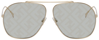 Fendi Green FF Aviator Sunglasses
