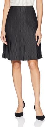 Kasper Women's Pindot Pleated Flare Skirt