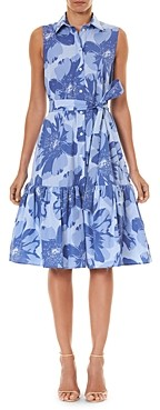 Carolina Herrera Belted Cotton Floral Print Dress