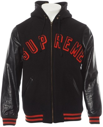 Supreme Black Wool Jacket for Women