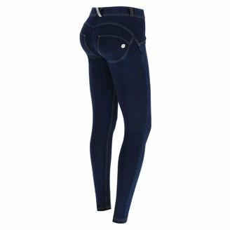 Freddy WR.UP Regular-Rise Skinny-fit Trousers in Dark Denim - Dark Jeans-Yellow Seam - Small