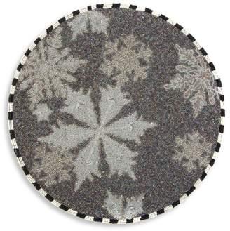 Mackenzie Childs Snowflake Beaded Placemat