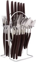 CIY-cookityourself Set of 24 Stainless Steel Flatware With Caddy Stand Table Cutlery
