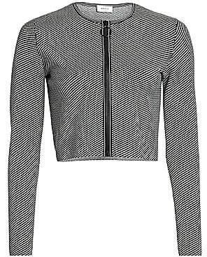 Akris Punto Women's Geo Knit Cropped Zip Cardigan