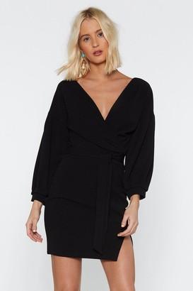 Nasty Gal Womens Take Your Sleeve Tie Dress - black - 12